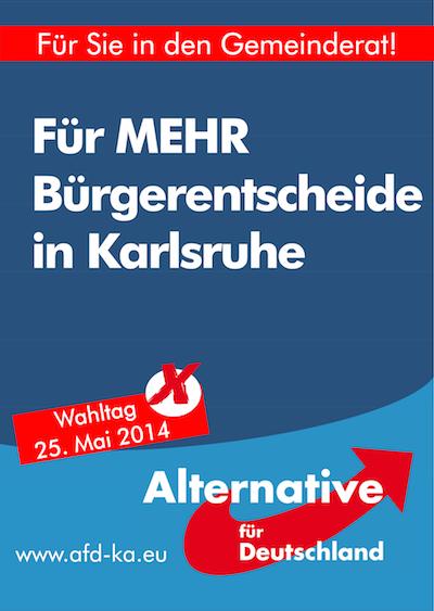 Plakat 4 Bürgerentscheide